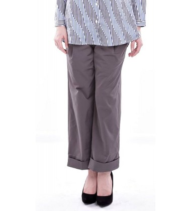 WANIA loose straight cut pants in Ash Grey