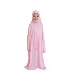 NAIA KIDS TELEKUNG PLAIN COTTON JERSEY IN PINK FLAMINGO