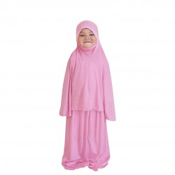 NAIA KIDS TELEKUNG PLAIN COTTON JERSEY IN CUPCAKE PINK