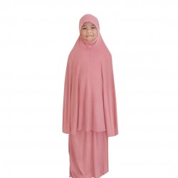 NAIA KIDS TELEKUNG PLAIN COTTON JERSEY IN CORAL PINK