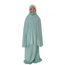 NAIA KIDS TELEKUNG PLAIN COTTON JERSEY IN MINT GREEN