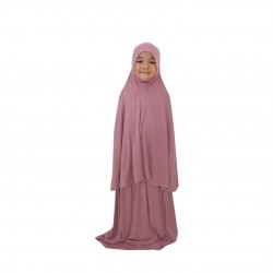 NAIA KIDS TELEKUNG PLAIN COTTON JERSEY IN BERRY PINK