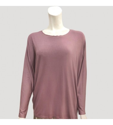 SADIE SOFT PLAIN JERSEY IN PURPLE