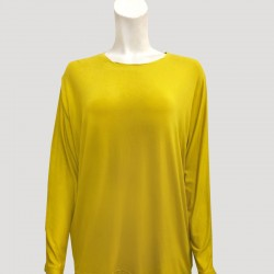 SADIE PLAIN JERSEY TOP IN YELLOW