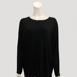 YADIE SOFT PLAIN JERSEY IN BLACK