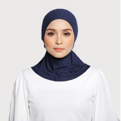 ASMAA Stretchable Inner Neck with Tieback in Denim Blue