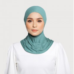 ASMAA Stretchable Inner Neck with Tieback in Green