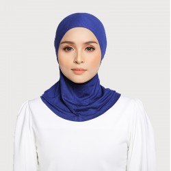 ASMAA Stretchable Inner Neck with Tieback in Admiral Blue