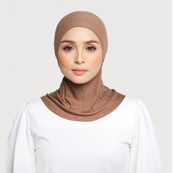 ASMAA Stretchable Inner Neck with Tieback in Brown