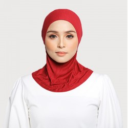 ASMAA Stretchable Inner Neck with Tieback in Red