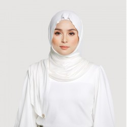 INARA JERSEY SCARF IN OFF WHITE
