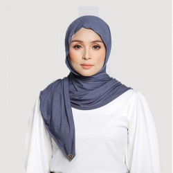 INARA JERSEY SCARF IN DARK GREY