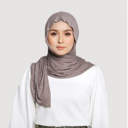 INARA JERSEY SCARF IN TAUPE