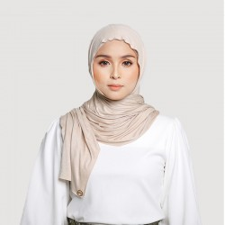 INARA JERSEY SCARF IN NUDE