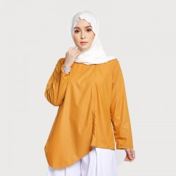 SAFIRA ASYMMETRICAL COTTON TOP IN GOLD