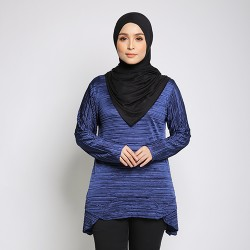 LYLA Soft Pleated Top in Blue