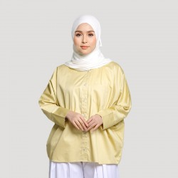 ANJA OVERSIZED COTTON SHIRT IN YELLOW