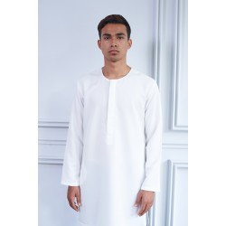 ADAM POCKET KURTA in White