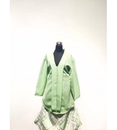 HAURA KIDS KEBAYA TOP WITH PRINTED SKIRT