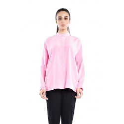 SABIHA plain color loose blouse in Pink