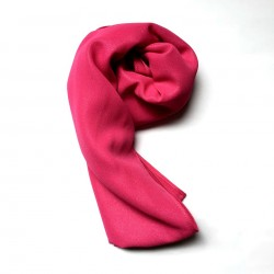 SALMA metallic chifon shawl in Fuschia Pink