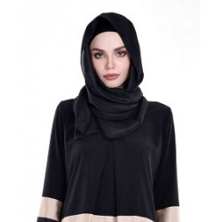 SALMA Metallic Chiffon Shawl in Black