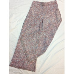 HANAMA printed chiffon Palazo Pants IN PURPLE