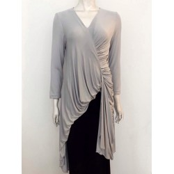 NISRINA JERSEY LONG TOP IN GREY