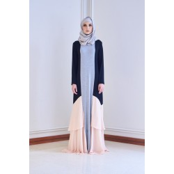 EMELINE Jersey Chiffon Dress