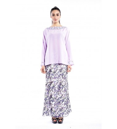 TABINA scallop embellished with pleated skirt in Purple