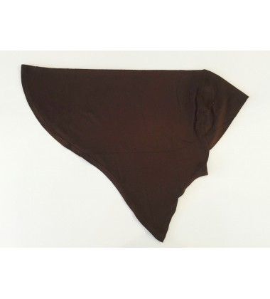 NFY knit jersey inner tudung in Dark Brown
