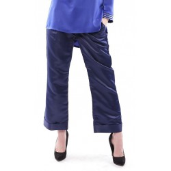 WANIA loose straight cut pants in Navy Blue