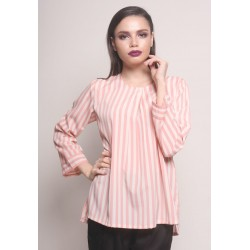 ZAVIERA duo color stripe blouse in Soft Pink