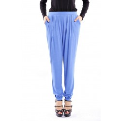 ZEHNA slouchy pants in Nylon Blue