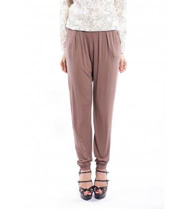 ZEHNA slouchy pants in Coffee Brown