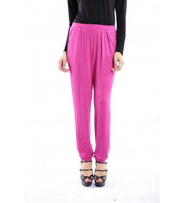ZEHNA slouchy pants in Dark Fuchsia