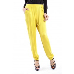 ZEHNA slouchy pants in Mustard Yellow