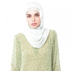 ZULEHA embellished shawl in Soft Green
