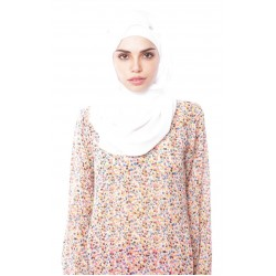 ZULEHA embellished shawl in White