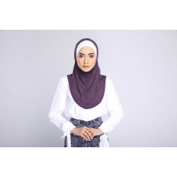 AMANI tudung syria style in Denim Purple