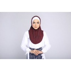 AMANI tudung syria style in Denim Red