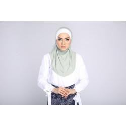 AMANI tudung syria style in Soft Green