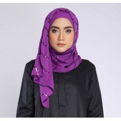 NAFSIA sequin selendang in Royal Purple
