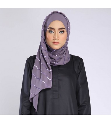 NAFSIA sequin selendang in Dusky Purple