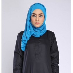 NAFSIA sequin selendang in Bright Blue