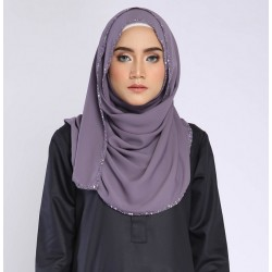 MAIMUNA embellished shawl in Dusky Purple