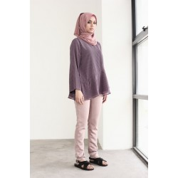 ZENIA straight cut pants in Dusky Pink