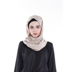 DUHA pastel plain shawl in Nude