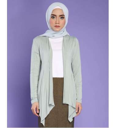 FATIN jersey knit cardigan in Soft Green