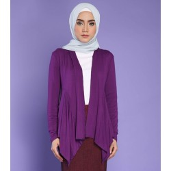 FATIN jersey knit cardigan in Purple